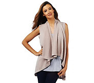 Luxe Rachel Zoe Metallic Sleeveless Cardigan Sweater Vest - A224900