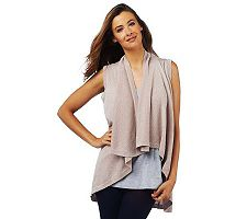 Luxe Rachel Zoe Metallic Sleeveless Cardigan Sweater Vest