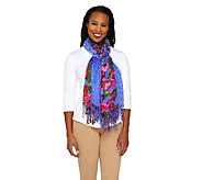 Isaac Mizrahi Live! Set of 2 Floral & Dot Printed Scarves - A233100