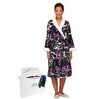 Isaac Mizrahi Live! Floral Printed Plush Robe