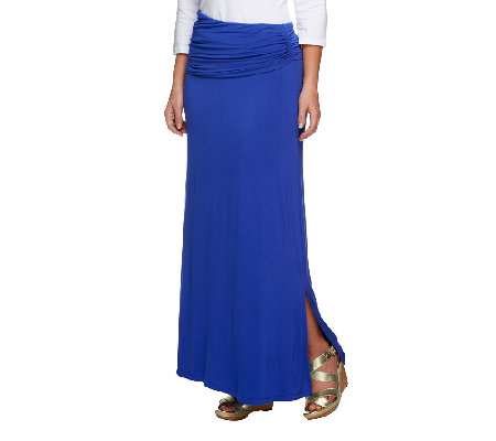 rinna collection ruched waist maxi skirt