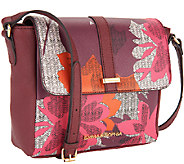 Emma & Sophia Printed Saffiano Leather Meghan Crossbody - A256300