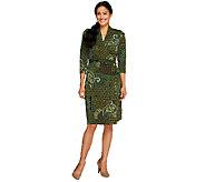 Liz Claiborne New York Petite Printed Knit Wrap Dress - A257200
