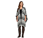 Lisa Rinna Collection Jacquard Sweater Shawl - A257700