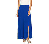 Lisa Rinna Collection Pull-On Knit Maxi Skirt with Side Slit - A265400