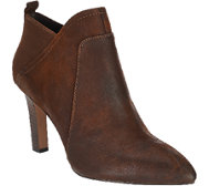 Franco Sarto Leather Pointed Toe Booties - Karina