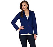 C. Wonder Blazer with Printed Lining and Signature Buttons - A275100