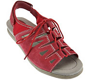 Earth Origins Nubuck Ghillie Lace-up Sport Sandals - Harmony - A277100