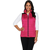 Susan Graver Weekend Quilted Vest with Faux Leather - A278900