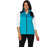 Susan Graver Weekend Lightweight Zip Front Quilted Vest - A278900