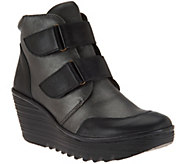 FLY London Leather Wedge Boots - Yugo - A283900