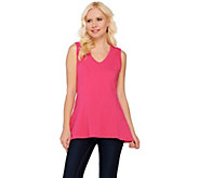 As Is Kathleen Kirkwood Cotton Spandex V-Neck Swing Cami - A284500