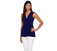 As Is Women with Control Cap Sleeve Jersey Top with Smoothing Panel - A285300