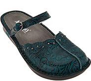 As Is Alegria Leather Slip-on Mary Janes w/ Adj. Strap - Tuscany - A287400