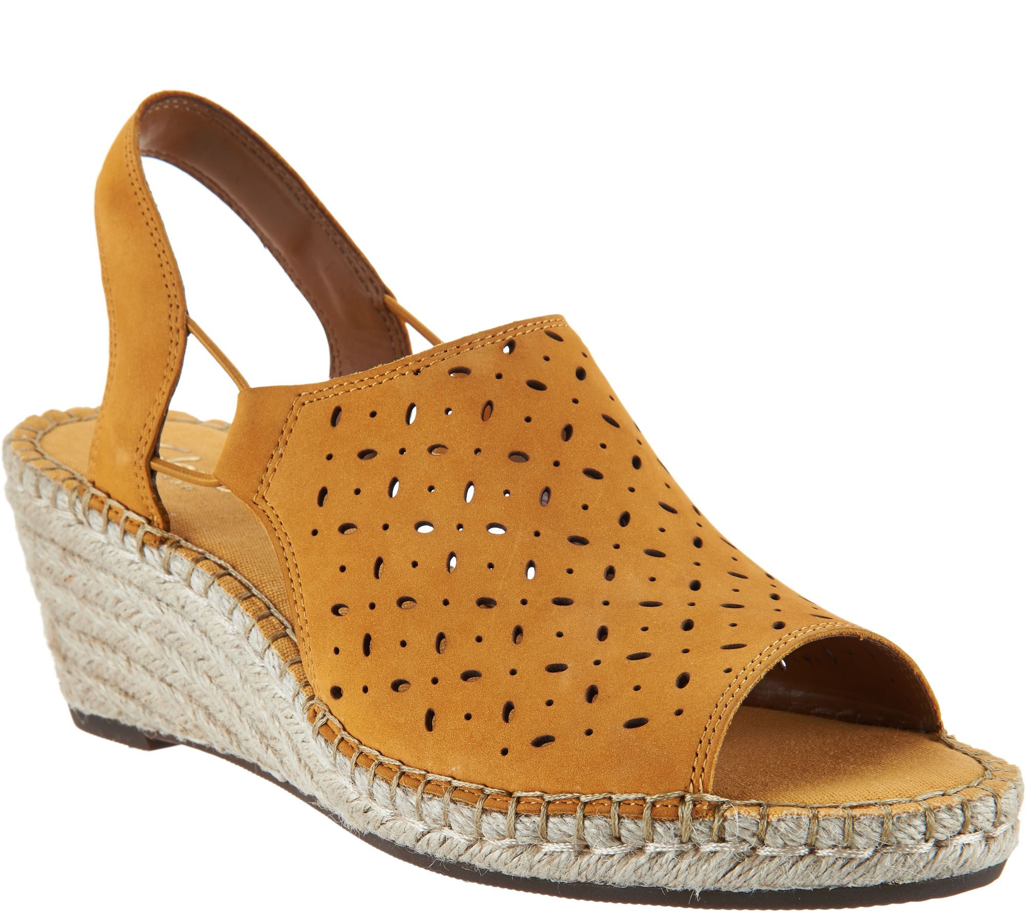 Clarks Artisan Leather Espadrille Wedge Sandals Petrina
