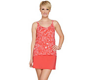 Denim & Co. Beach Hi Lo Tankini Swimsuit with Skirt - A289100