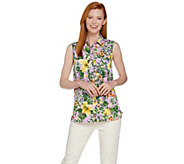 C. Wonder Tropical Floral Print Sleeveless Carrie Blouse - A289700
