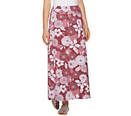 Denim & Co. Petite Floral Print Maxi Skirt - A292500