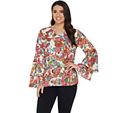 Linea by Louis DellOlio Exotic Floral Print Top - A302600