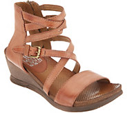 Miz Mooz Leather Multi Strap Wedge Sandals - Shay - A304600