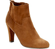 Sole Society Unlined Suede Ankle Booties - Laurel - A356600