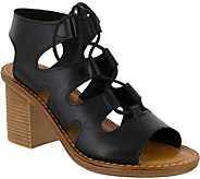 Bella Vita Leather or Suede Ghillie Lace-up Sandals - Bre - A356700