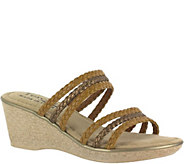 Tuscany by Easy Street Braided Wedge Sandals -Pilato - A356800