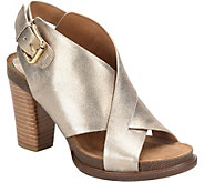 Sofft Leather Platform Sandals - Cambria - A360100