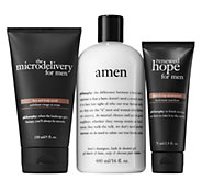philosophy gift your man scrub, moisturizer & shower gel trio - A364700