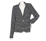 Dennis Basso Ponte Knit One Button Jacket with Pockets - A214201