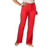 Isaac Mizrahi Live! Icon Grace Stretch Wide Leg Pants - A227801