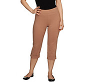 Women with Control Regular Capri Pants with Cuff Detail - A231501