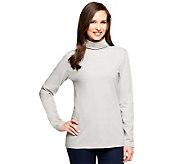 Denim & Co. Essentials Knit Long Sleeve Turtleneck - A237301