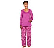 Carole Hochman Rustic Isle Microfleece 2-Piece Pajama Set - A238001