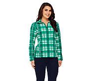 Liz Claiborne New York Plaid Fleece Jacket - A239001