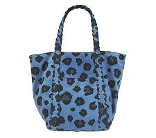"As Is"" Kelsi Dagger Ryan Leopard Print Double Strap Shoulder bag"