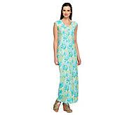 Denim & Co. Petite Floral Print Sleeveless Maxi Dress - A252801