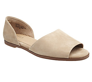 G.I.L.I. Suede Slip-On Two Piece Flat Sandals