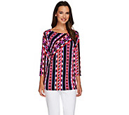 Bob Mackies Tribal Stripe Print Top - A255501