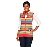 Liz Claiborne New York Fair Isle Sweater Vest - A257201