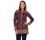 Liz Claiborne New York Double Knit Sweater Coat