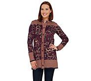 Liz Claiborne New York Double Knit Sweater Coat - A269201
