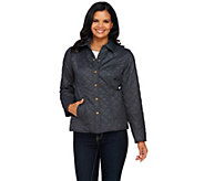 As Is Joan Rivers Diamond Quilted Jacket with Snap Front - A277401