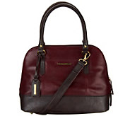 As Is Tignanello Glazed Vintage Leather RFID Domed Satchel - A278401