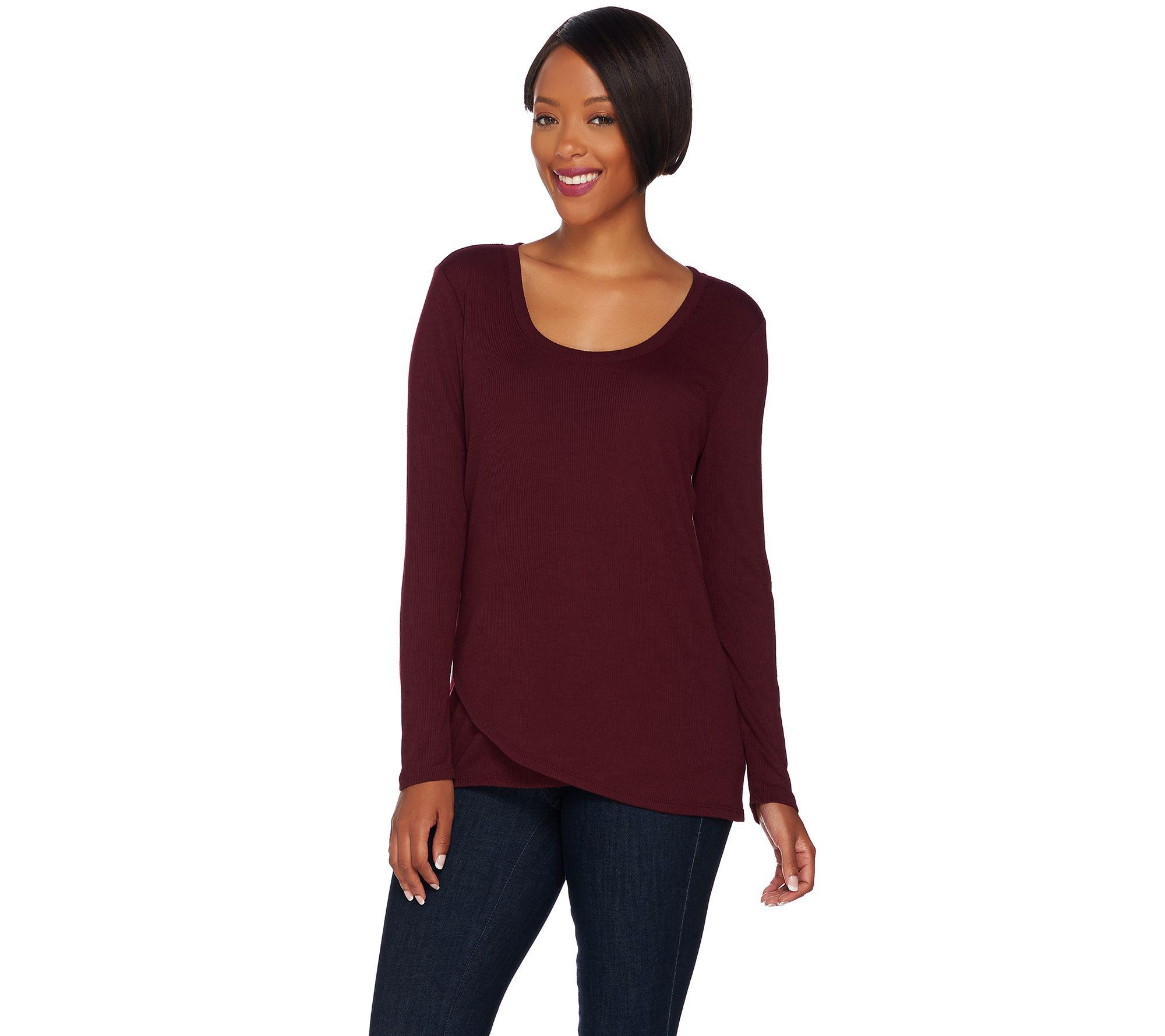 Qvc Blouses Ladies - Long Sleeved Blouse