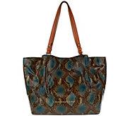 As Is Dooney & Bourke City Python-Embossed Leather Flynn Shoulder Bag - A280501