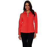 As Is Susan Graver Weekend French Terry Zip Front Jacket - A283701