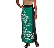 As Is G.I.L.I. Regular Placed Print Maxi Skirt - A285301