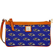 Dooney & Bourke NFL Ravens Large Slim Wristlet - A285801