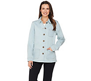 Denim & Co. Long Sleeve Button Front Jacket with Pockets - A286801